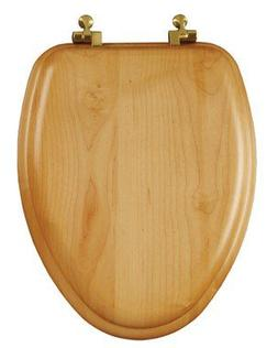 Bemis Elongated Toilet Seat Elongated Oak Chrome Hinges