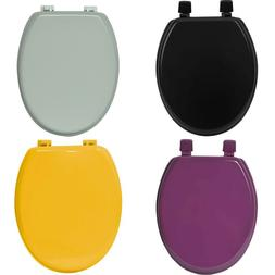 EVIDECO Oval Toilet Seat Solid Color Red,Purple,Yellow,Black