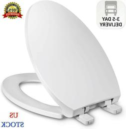 Elongated Toilet Seat with Cover, Slow Close, Easy to Instal