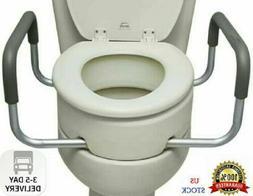 essential medical elongated raised toilet