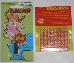 EXPLODING TOILET SEAT - Bang Cap Joke Prank Novelty Trick  W