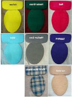 Fleece Fabric Cover Toilet Seat Lid OR/AND Tank Top Blue Pin