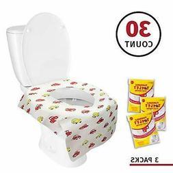 Banana Basics Flushable Disposable Toilet Seat Cover  Kid-Fr