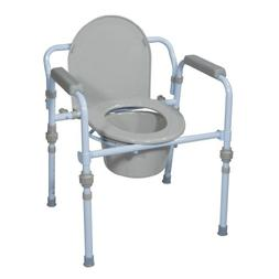 Drive Medical Folding Bedside Commode Seat with Commode Buck