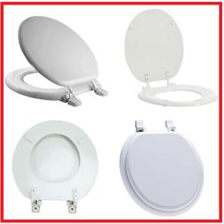 ROUND CLOSED FRONT TOILET SEAT Bathroom Molded Enameled Wood