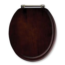 Ginsey Round Toilet Seat in Espresso Wood