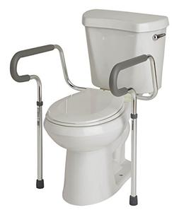 Medline's Guardian Toilet Safety Rail with Adjustable Height