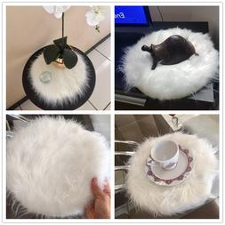 Hairy Carpet Sheepskin Chair Cover Soft Bedroom Faux Mat <fo