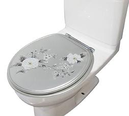 BH Home & Linen Melarose Decorative Heavy Duty Round Toilet