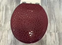 Heavy duty Metal Hinges Round Wooden Toilet seats with Stone