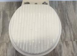 Heavy duty Metal Hinges Round Wooden Toilet seats with Bambo