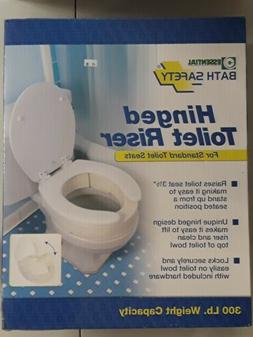 Essential Medical Supply Hinged Toilet Seat Riser for Standa