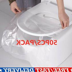 Home 50x/Pack Disposable Toilet Seat Mat Travel Hotel Toilet