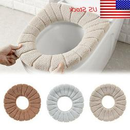 Home Bathroom Toilet Seat Washable Soft Comfortable Warmer M