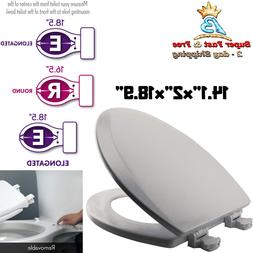 Home Elongated Wood Molded Toilet Seat With Easy Change Clea