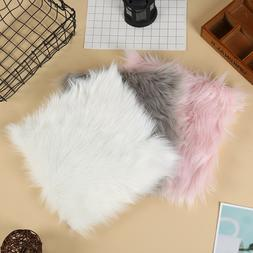 Hot sale Faux Sheepskin Chair Cover 3 Colors Warm Hairy Wool