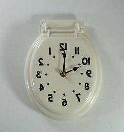 Johnny Clock Toilet Seat Wall Clock Made to Order Vintage Re