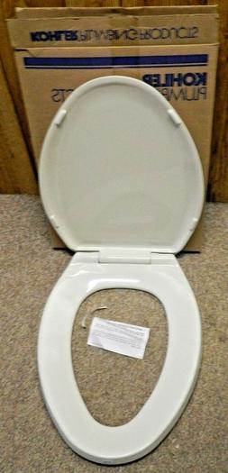KOHLER K-4652-96 Lustra Elongated Closed-Front Toilet Seat,