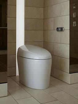 KOHLER K-4026-0 Karing Skirted One-Piece Elongated Toilet wi