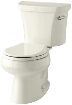 Kohler K-3977-96 Wellworth Round-Front 1.6 gpf Toilet, Biscu