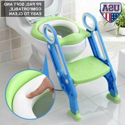 Kids Potty Training Seat with Step Stool Ladder Child Toddle