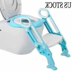 Kids Trainer Toilet Potty Training Seat Baby Toddler Chair P