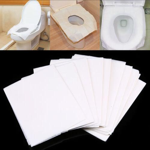 10 50pcs disposable toilet seat cover mat