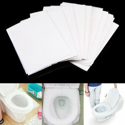 10-50pcs Toilet Seat Paper Covers Mat Pads Flushable Sanitary Travel