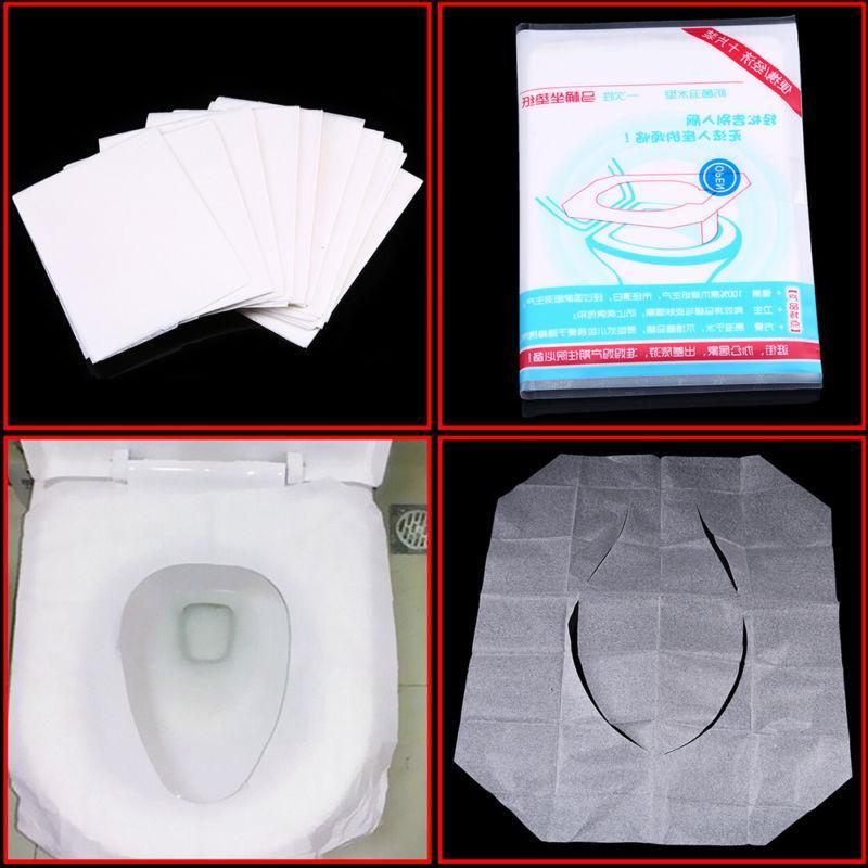 10-50pcs Paper Covers Flushable Travel