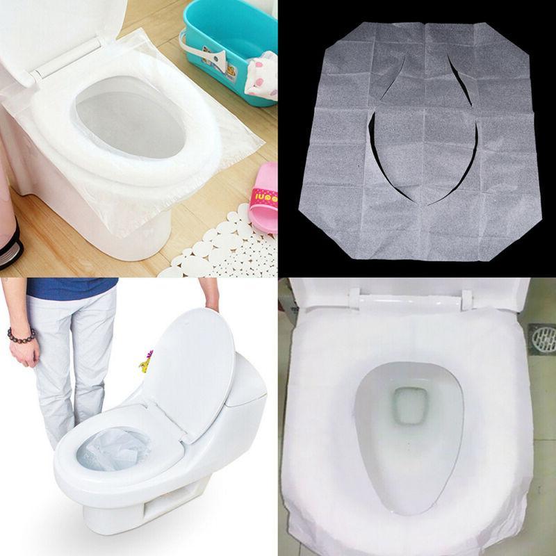 10-50pcs Disposable Paper Covers Flushable Travel