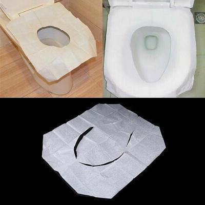 10 50pcs disposable toilet seat paper covers