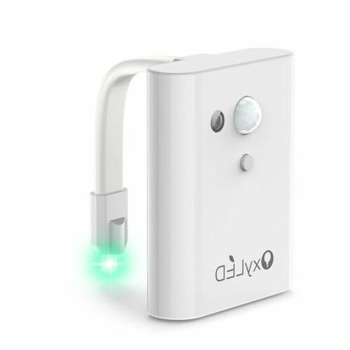 12 Color LED Seat Bathroom Night Human Sensor