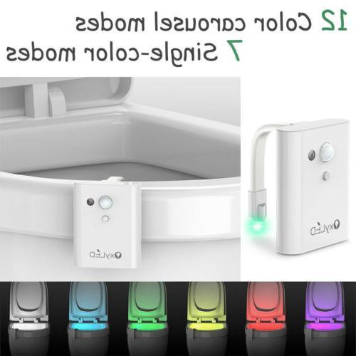 12 color led toilet seat bathroom night