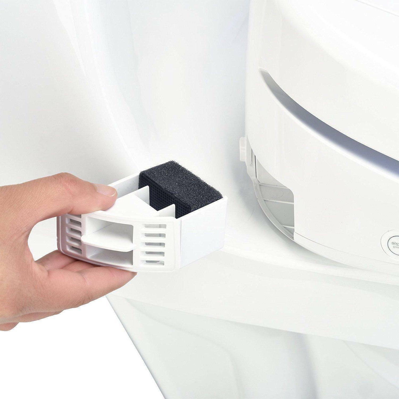 Brondell 1400 Luxury Bidet Toilet Seat White Stainless