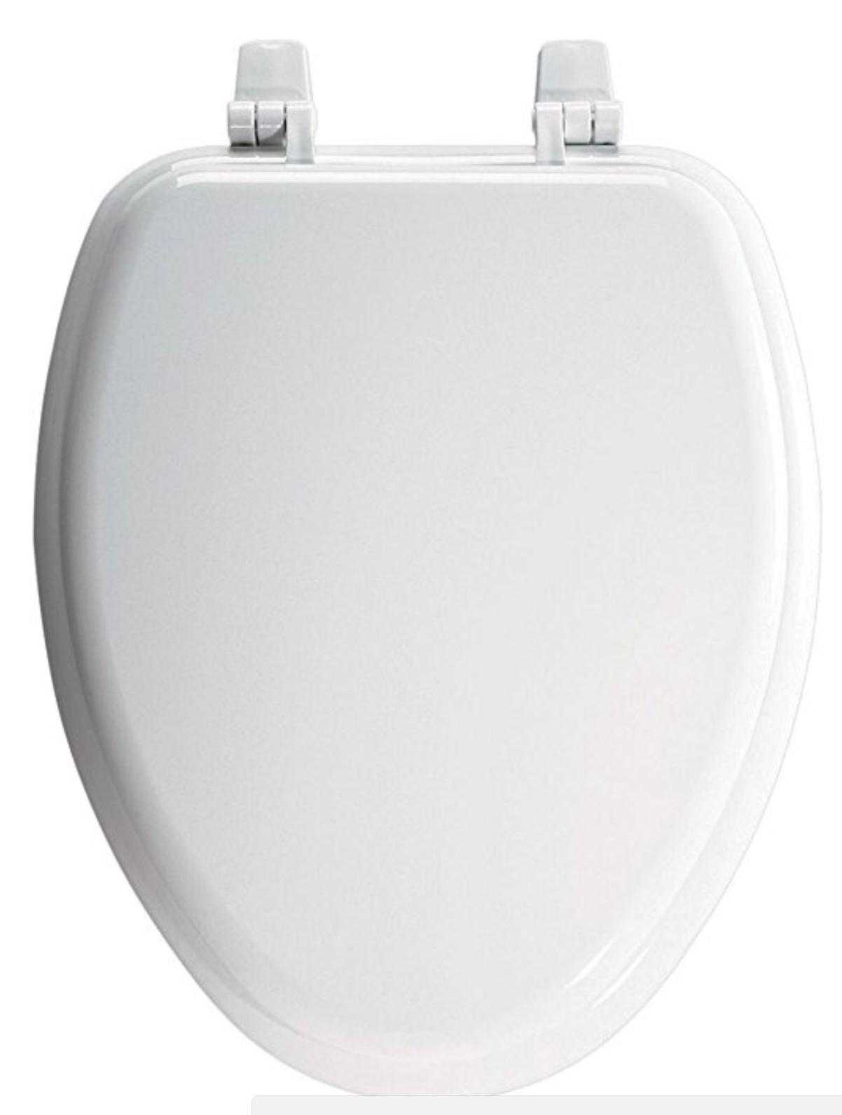 Church 1400TTC Elongated Wood Toilet Seat White