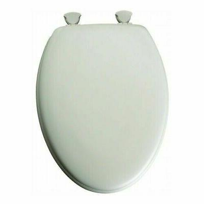 Bemis 144EC-000 White Elongated Enamel Toilet Seat Molded Wo