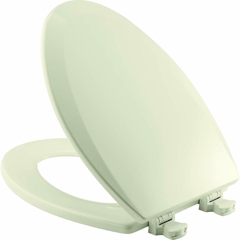 Bemis 1500EC 346 Wood Elongated Toilet Seat Easy Clean and C