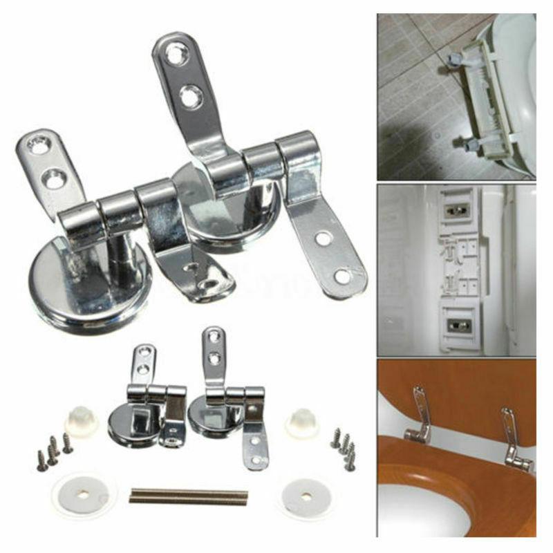 Universal Metal Toilet Seat Hinges Adjustable Set Replacemen