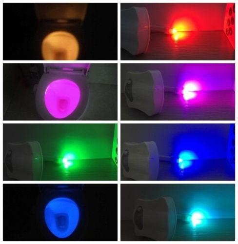 2-Pack: Night 8-Color LED Automatic Sensing