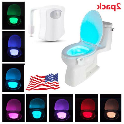 2 pack toilet night light 8 color