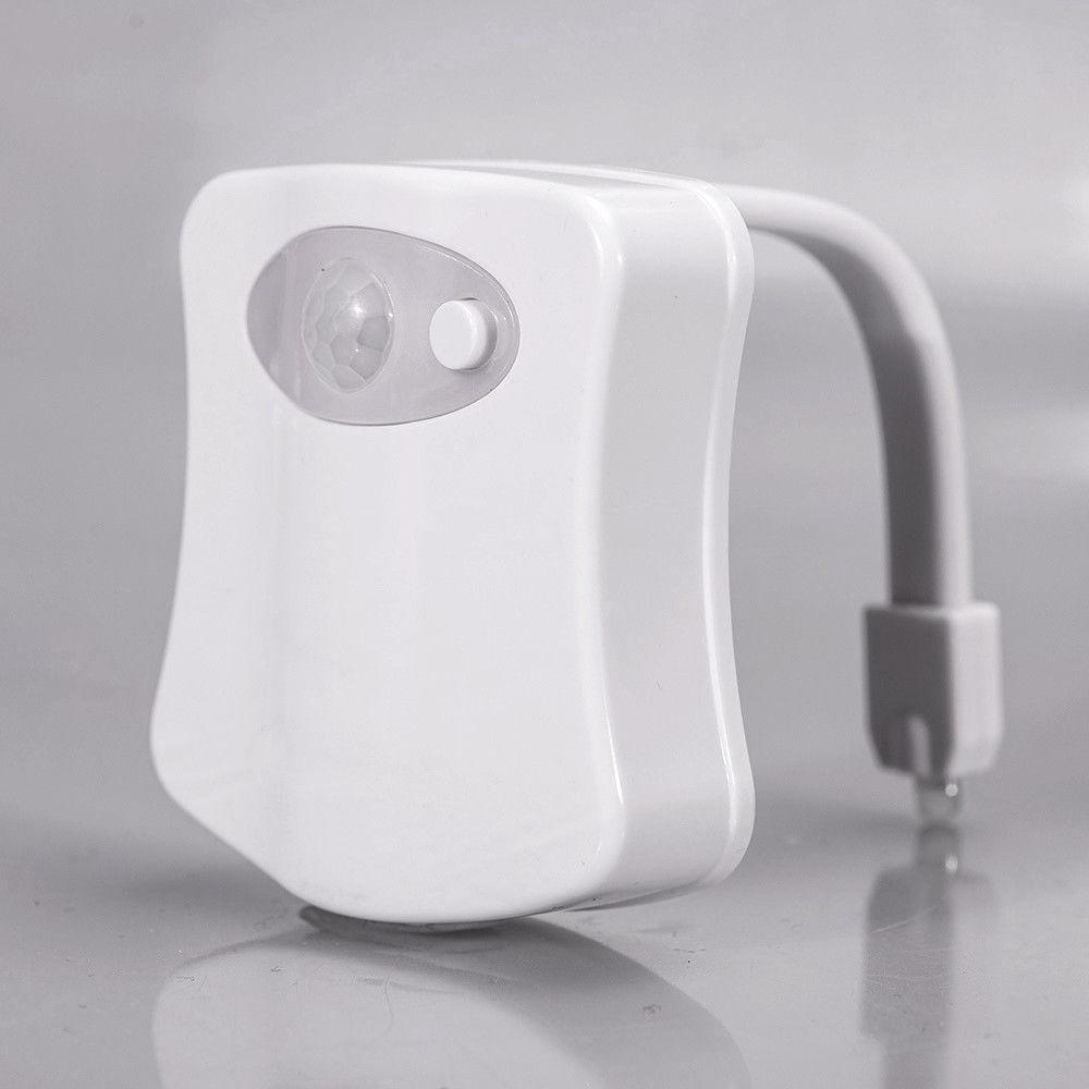 2 Toilet Night Light Motion Activated 8-Color LED Sensor Lamp