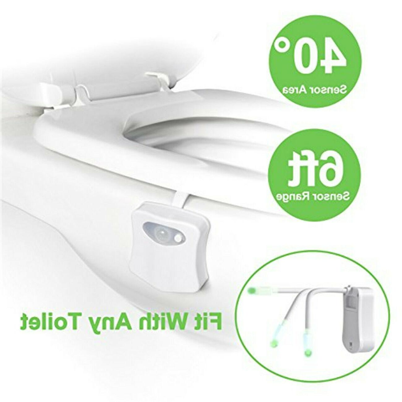 2PACK Toilet Night Motion 8 Changing Led Light