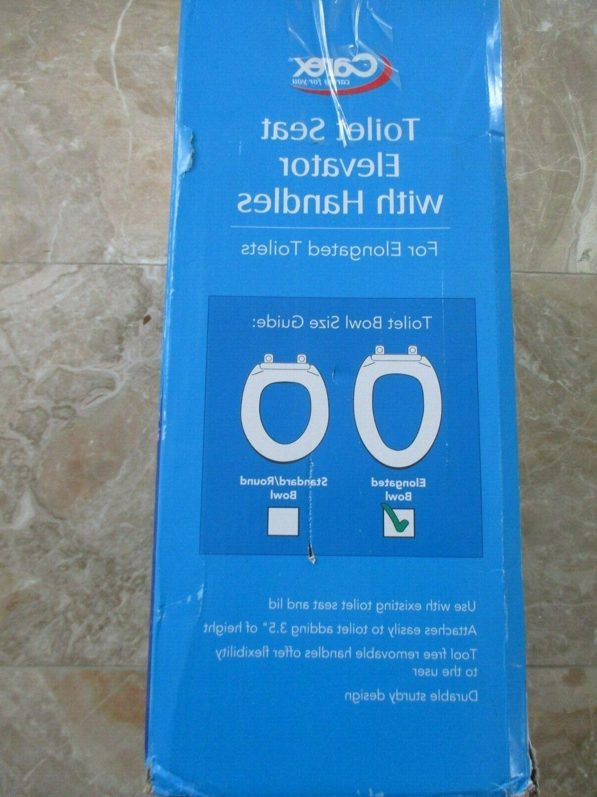 "Carex 3.5"" Toilet Seat Handles Elongated Box"