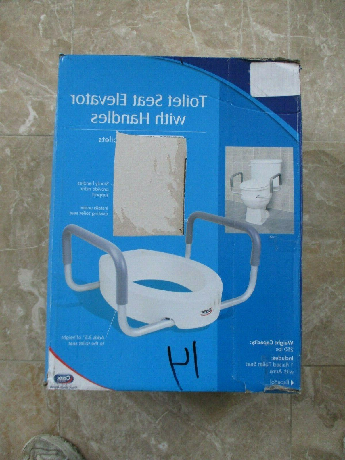 """Carex 3.5"""" Toilet Seat with Handles For Elongated Box"""