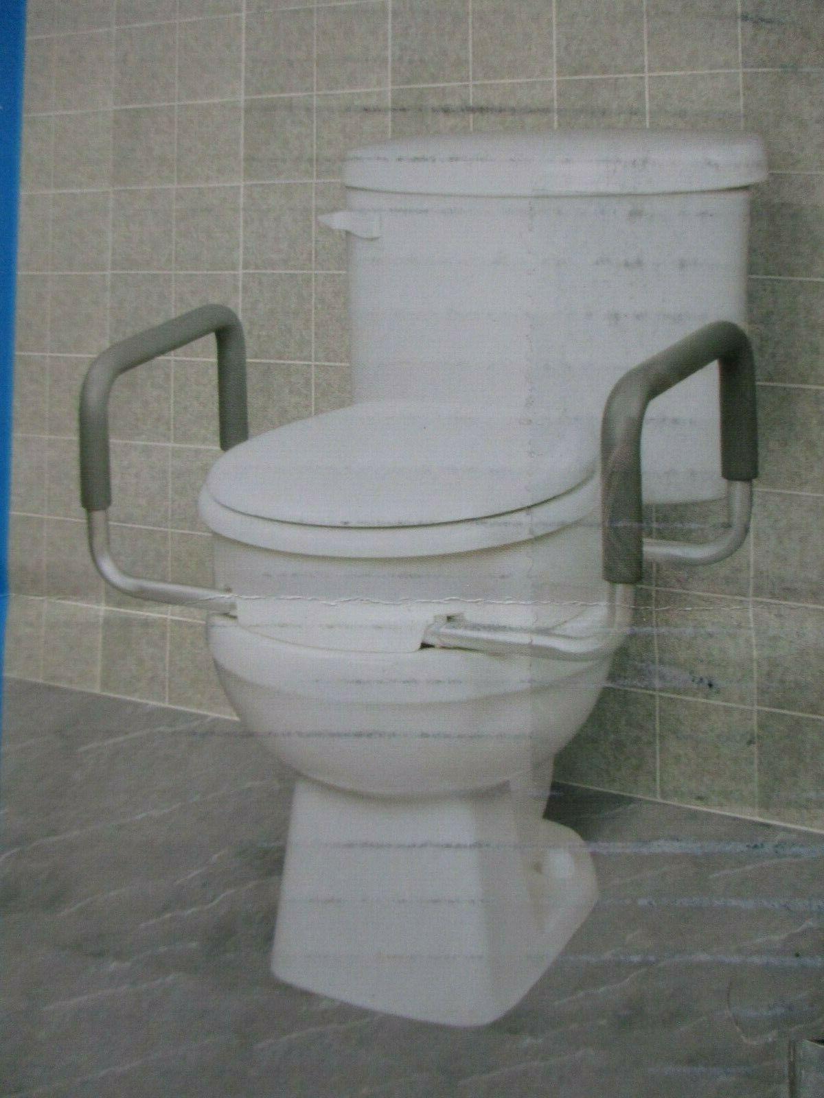 3 5 raised toilet seat with handles