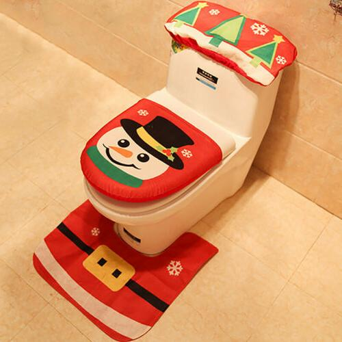 Merry & Cover Claus Bathroom Home Decor