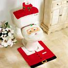 3Pcs Christmas Bathroom Toilet Seat Cover + Rug Sets Generic