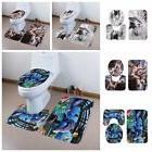 3Pcs Toilet Closestool Seat Cover Pad Bathroom Floor Mat Rug