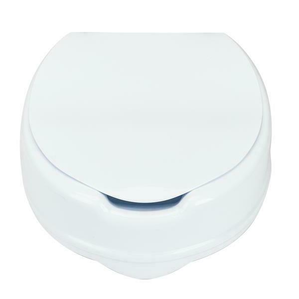 """Home 4"""" Elevated Toilet with Cover Increased Seat"""
