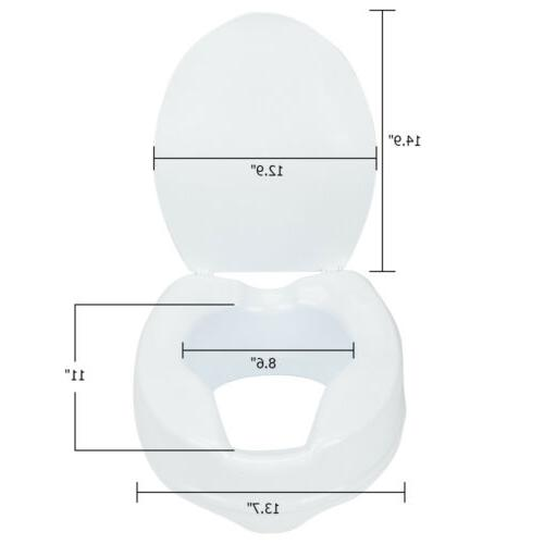 "4"" Raised Medical Elevated Toilet Open"